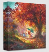 Autumn Leaves Gently Falling 14×14
