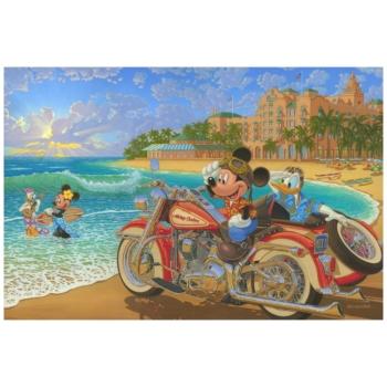 Mickey/'s Classic Car Club by Manuel Hernandez Limited Edition Disney Wall Art
